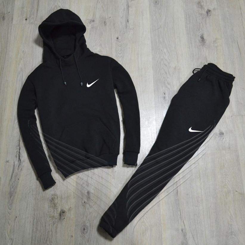 98dc3e97 Спортивный зимний костюм Nike утепленный черный. Живое фото. реплика ...