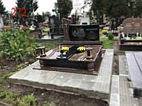 Подвійний пам'ятник з жадковського граніту, фото 1