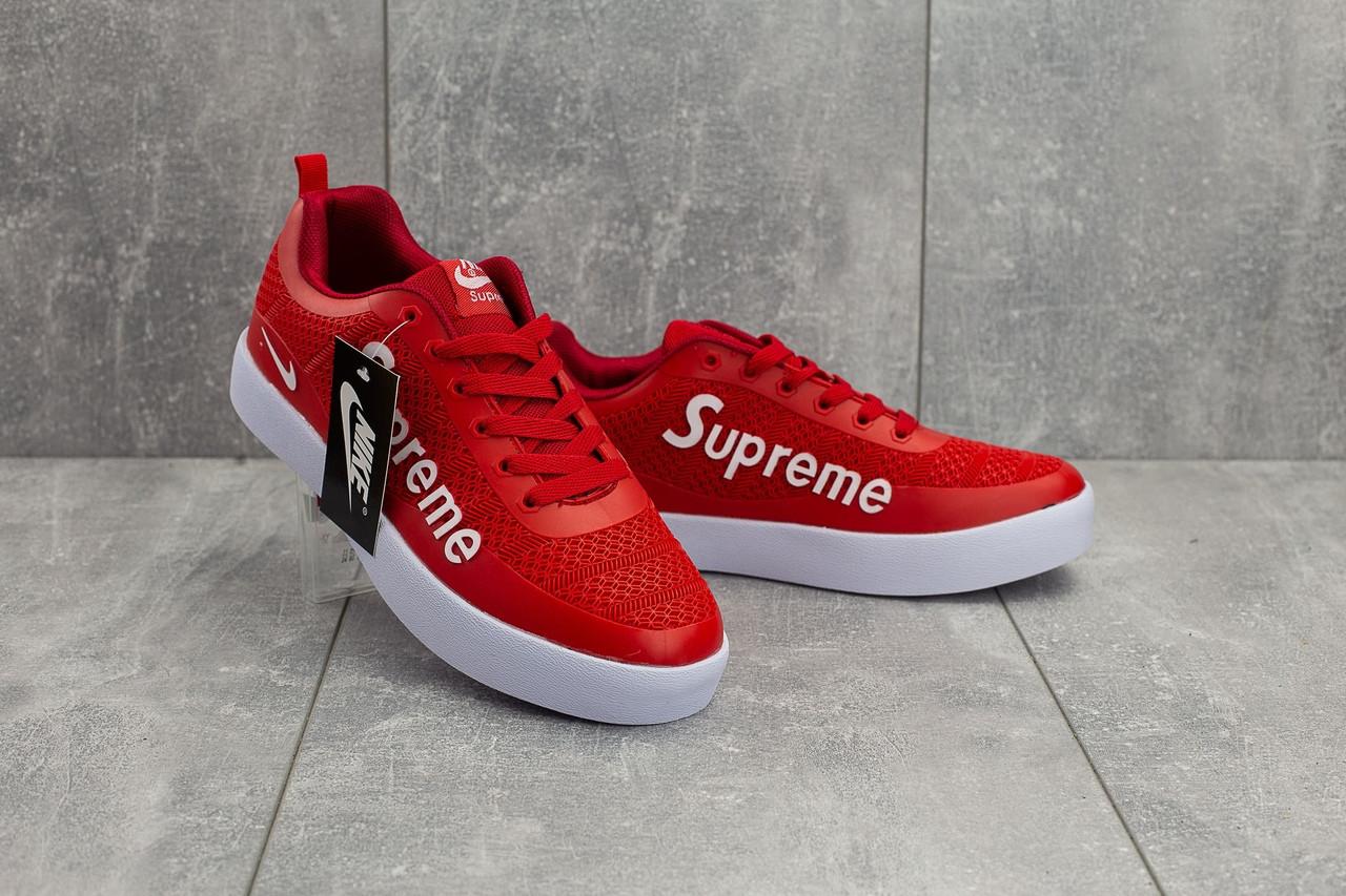 Мужские демисезонные кроссовки Nike Air Max 98 x Supreme красные топ реплика