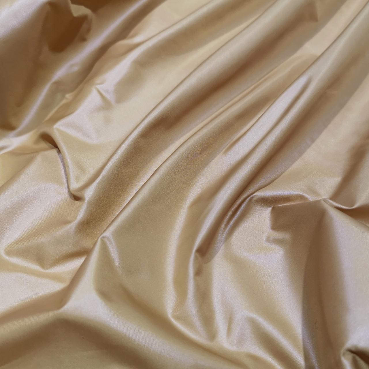Плащевая ткань лаке бежевая