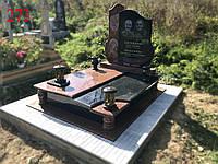 Двойной памятник из гранита лезники и габбро