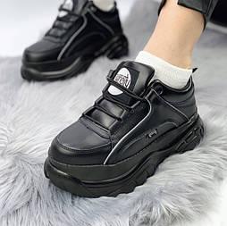 Женские кроссовки в стиле Queen city Platform black. Живое фото