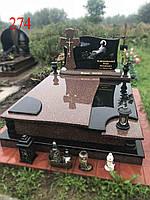 Двойной памятник из гранита токовський и габбро