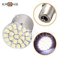Лампа в автомобиль LED 1156 BA15S P21W 2шт , 22 SMD
