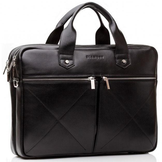 bdf512ffa3fc Мужская кожаная черная сумка BLAMONT Bn012A - Arion-store - кожгалантерея и  аксессуары в Киеве
