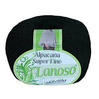 Зимняя пряжа Lanoso Alpacana Super Fine 960 25% альпака черная