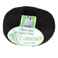 Зимняя пряжа Lanoso Alpacana Super Fine 993 25% альпака темно синяя