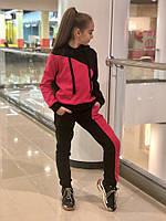 Теплый спортивный костюм детский трикотаж на меху размер: 134,140,146,152