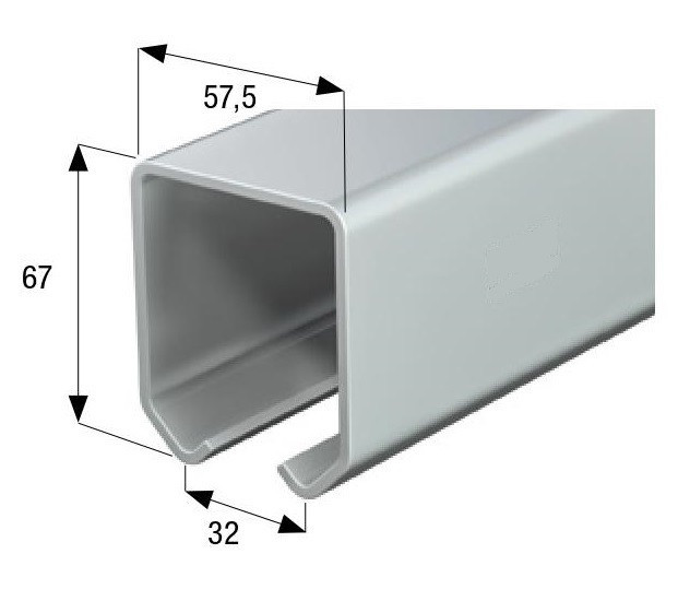 Направляющая для кареток 54мм.  до 900 кг. 6,0 м.