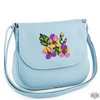 Женская сумочка через плечо Габриела голубая и синяя