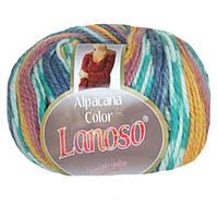 Зимняя пряжа Lanoso Alpacana Color 4000 25% альпака меланжевая