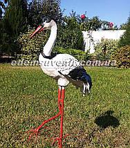 Садовая фигура Журавлик на металлических лапах, фото 3