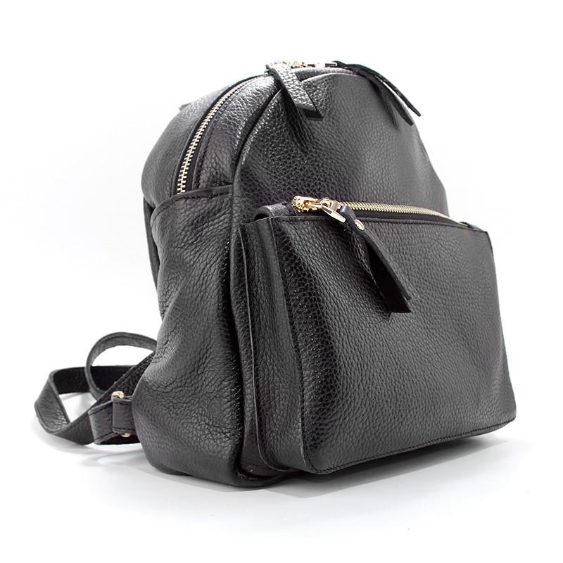 Рюкзак женский кожаный черный Viladi 061-1