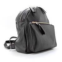 Рюкзак женский кожаный черный Viladi 061-1, фото 1