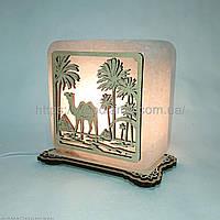 Соляной светильник квадратный Верблюд