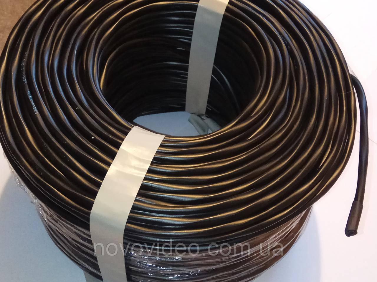 Комбинированный кабель для систем видеонаблюдения медный КВК П2+2*0,75 наружный