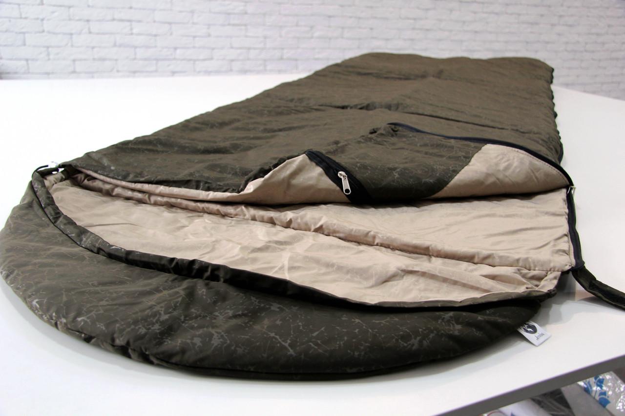 Тактический спальный мешок (до -5) спальник для похода весна и осень