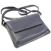 Женская синяя сумка ручной работы из кожи BOGZ Nadin P45M8S8