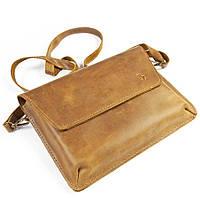 Женская сумка ручной работы из кожи BOGZ Nadin CH Olive P45M41S3