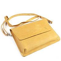 Женская сумка ручной работы из кожи BOGZ Nadin CH Yellow P45M38S2
