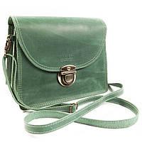 Женская зеленая сумка ручной работы из кожи BOGZ Iren P44M9S9