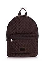 Рюкзак стеганый POOLPARTY backpack-theone-brown, фото 1