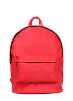 Рюкзак женский POOLPARTY backpack-pu-red, фото 1