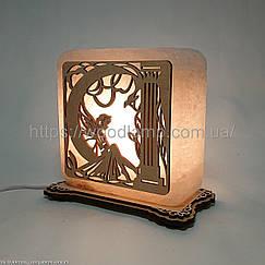 Соляной светильник квадратный Фея
