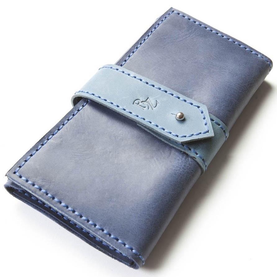 09848949289b Женское портмоне ручной работы из кожи BOGZ Grace CH Blue P31M8S8 -  Arion-store -