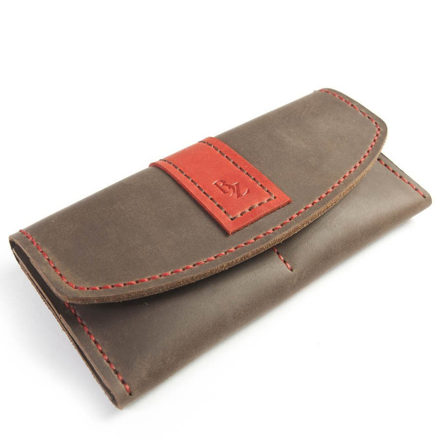 3c419746f45f Женский кошелек ручной работы из кожи BOGZ Oksi CH Brown P30M7S3 -  Arion-store -