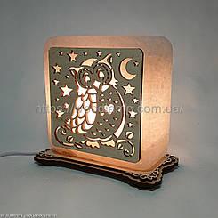 Соляной светильник квадратный Сова