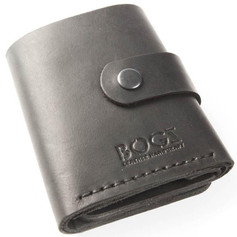 f1bff1b03af5 Мужское портмоне ручной работы из кожи BOGZ Roll CH Black - Arion-store -  кожгалантерея