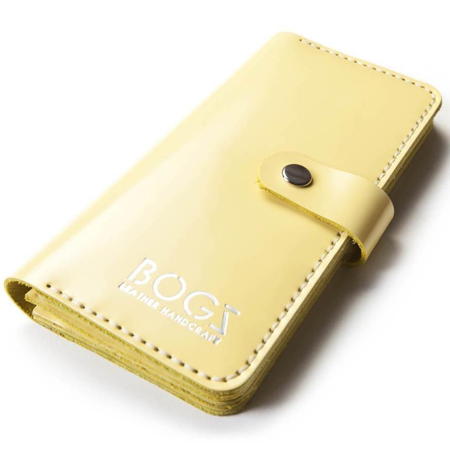 11b8611fa0a2 Женское портмоне ручной работы из кожи BOGZ Madlen L Yellow P19M34S4 -  Arion-store -