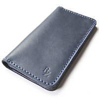 Мужское портмоне ручной работы из кожи BOGZ Long CH Blue P48M8S8