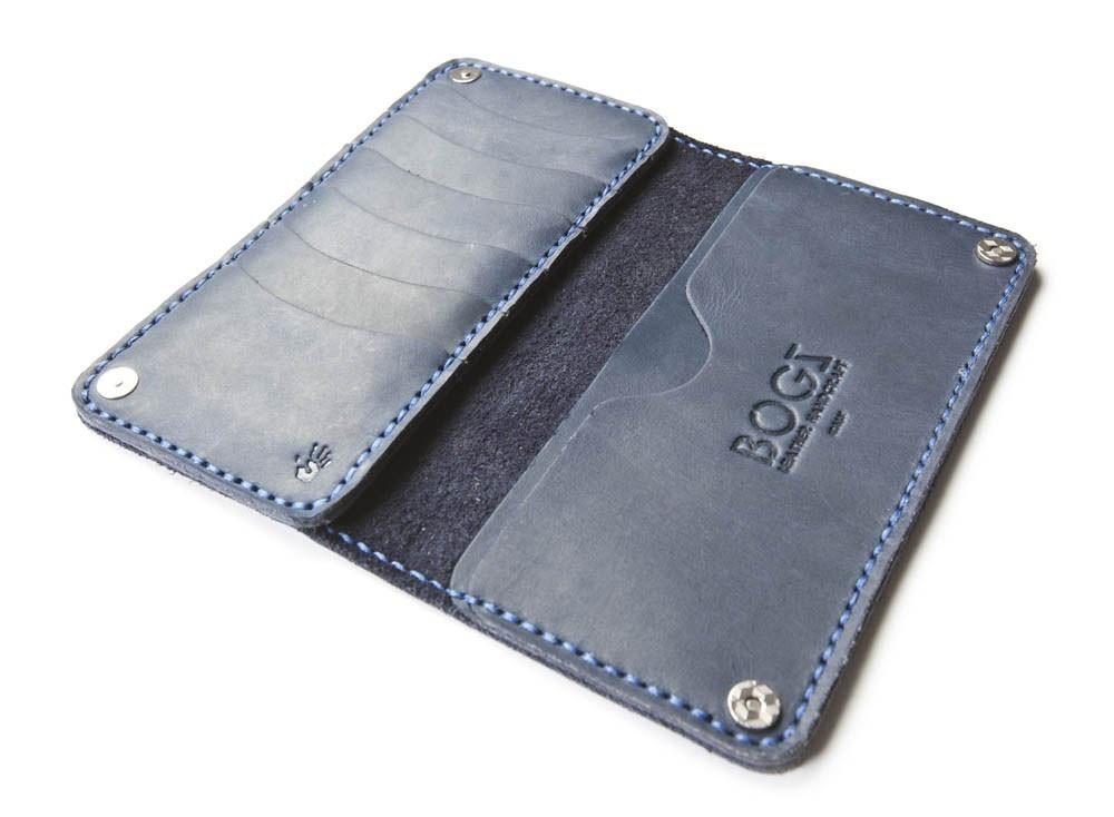 6826c7cd4a6e Мужское портмоне ручной работы из кожи BOGZ Long CH Blue P48M8S8, цена 919  грн., купить в Киеве — Prom.ua (ID#864120056)