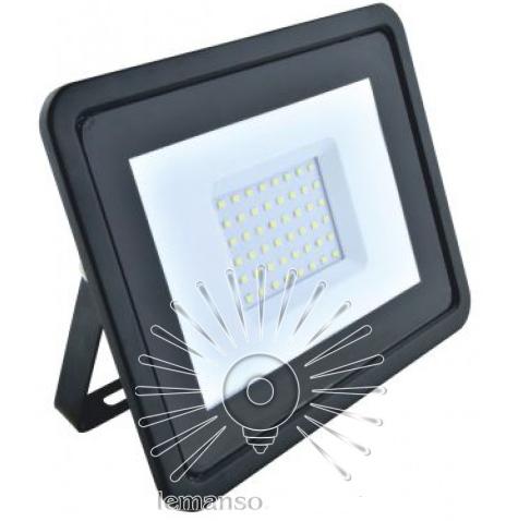 Прожектор LED 50w 6500K IP65 3200LM чорний з микров. датчиком