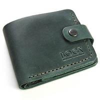 Зеленый мужской кошелек ручной работы из кожи BOGZ Classic+ CH Green P3M9S9