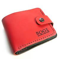 36b3d6ffc074 Красно-черный мужской кошелек ручной работы из кожи BOGZ Classic+ CRS Matt  Red