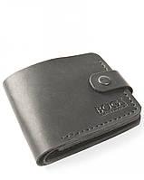 Черный мужской кошелек ручной работы из кожи BOGZ Classic+ CH Black P3M5S6