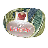 Зимняя пряжа Lanoso Alpacana Color 4008 25% альпака меланжевая