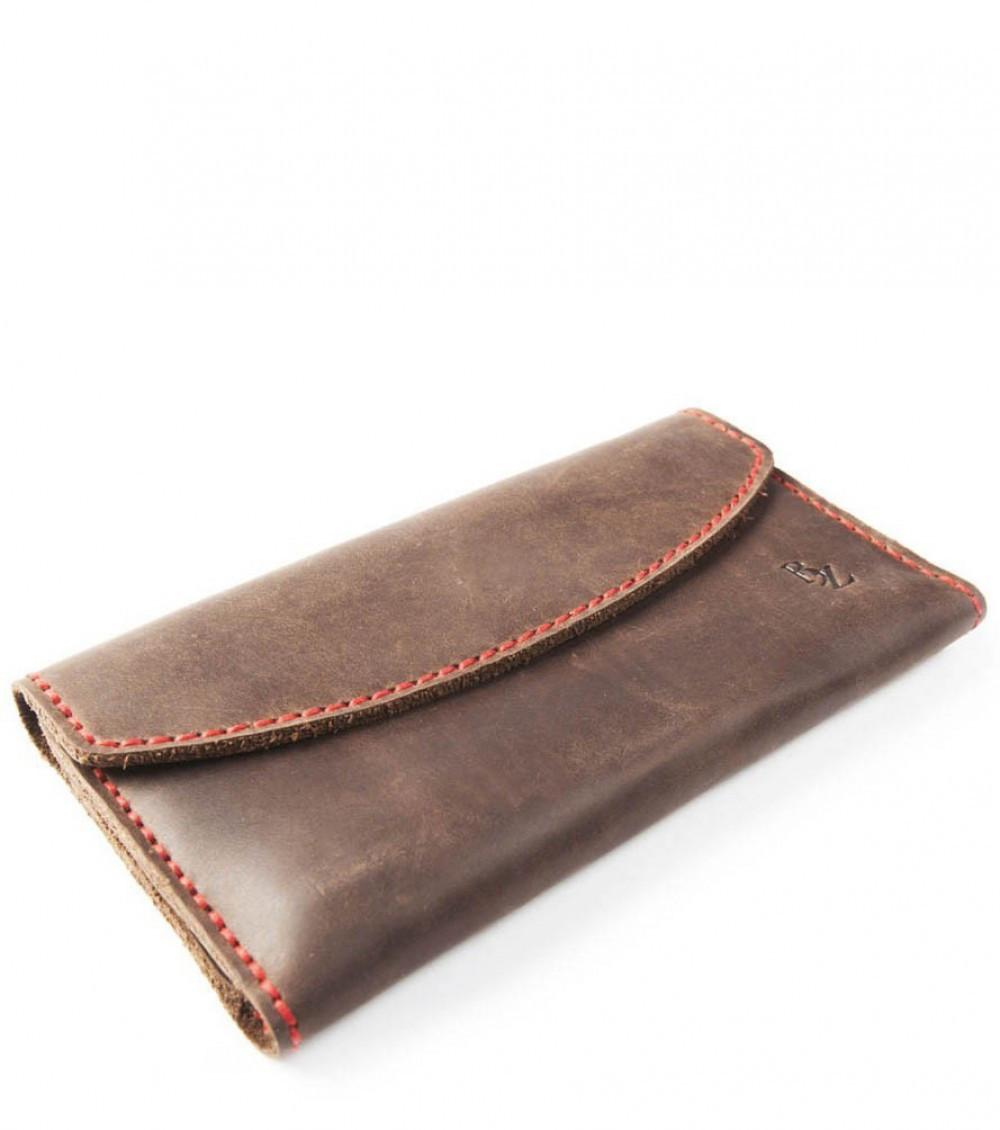 43218f10b1e0 Коричневый женский кошелек ручной работы из кожи BOGZ Yevnika P28M46S1 -  Arion-store - кожгалантерея