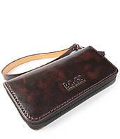 Мужской темно-коричневый бизнес-клатч ручной работы из кожи BOGZ Multivision P13M4M5S5
