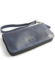 3d77c378a5dc Мужской бизнес-клатч ручной работы из кожи BOGZ Multivision CH Blue P13M8S8