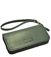 Мужской бизнес-клатч ручной работы из кожи BOGZ Multivision CH Black P13M5S6