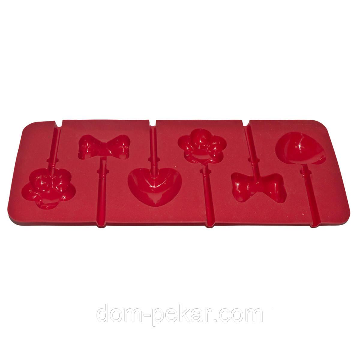 Форма для конфет на палочке Ассорти 6 шт