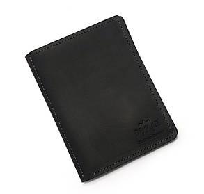 Обложка на паспорт + автодокуметы Dizar кожа крейзи, коричневая