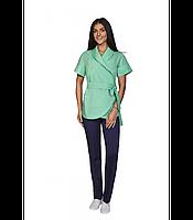 Медицинская женская  куртка на завязках. Размеры 42- 64
