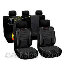 Комплект чехлов на автомобильные сидения  чорные BRAVO MILEX