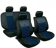 Авточехлы универсальные автомобильные для салона полный Milex Tango темно синий