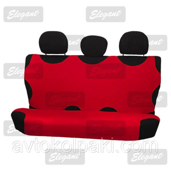 Чехлы майки универсальные на задние сидения красная     EL 105 243
